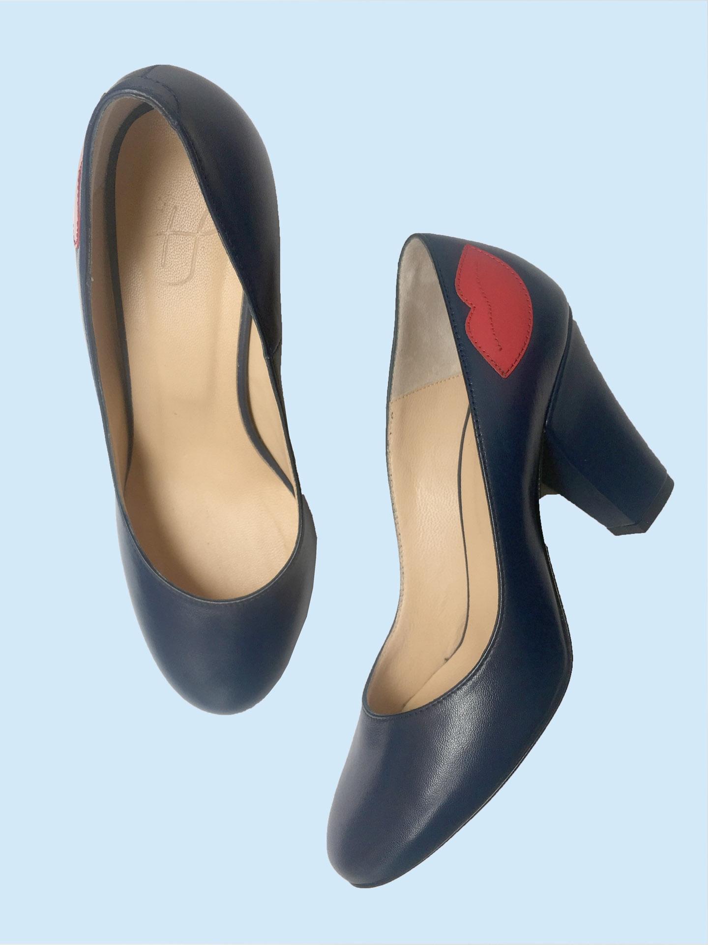 Escarpin Pamely Bleu/rouge