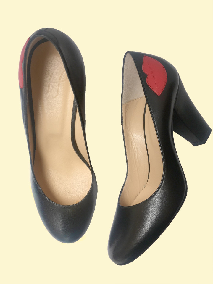 Escarpin Pamely Noir/rouge