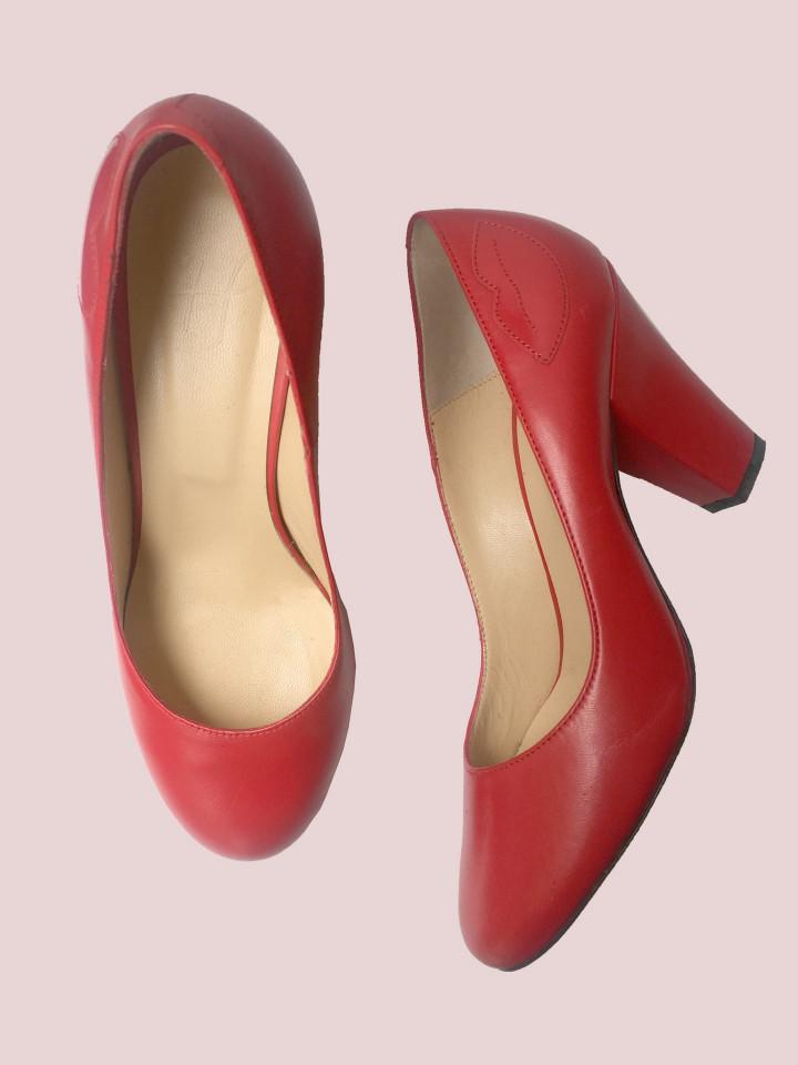 Escarpin Pamely Rouge/rouge