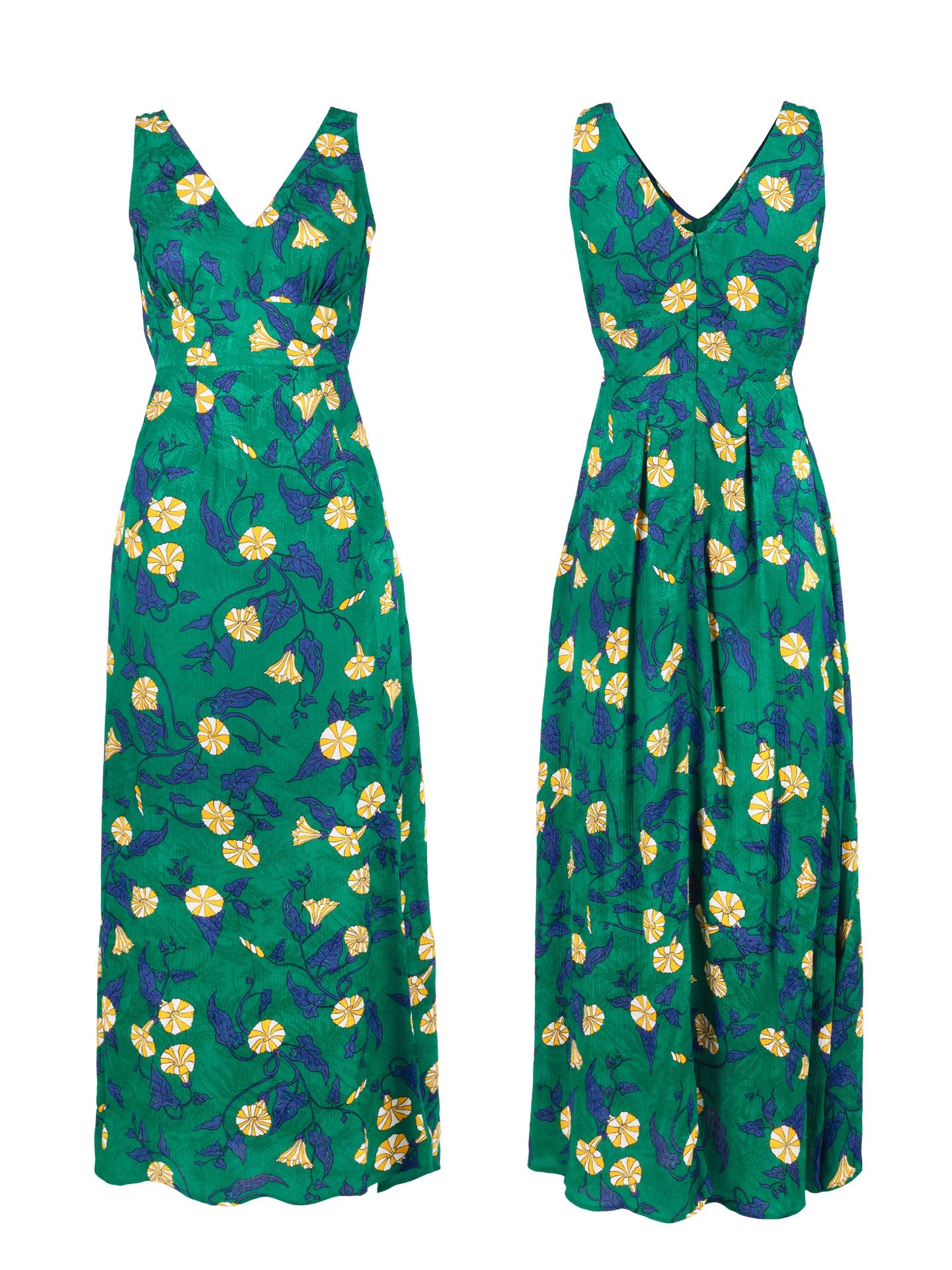 Robe Zahara vert liseron