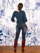 Jean Jilly raw blue