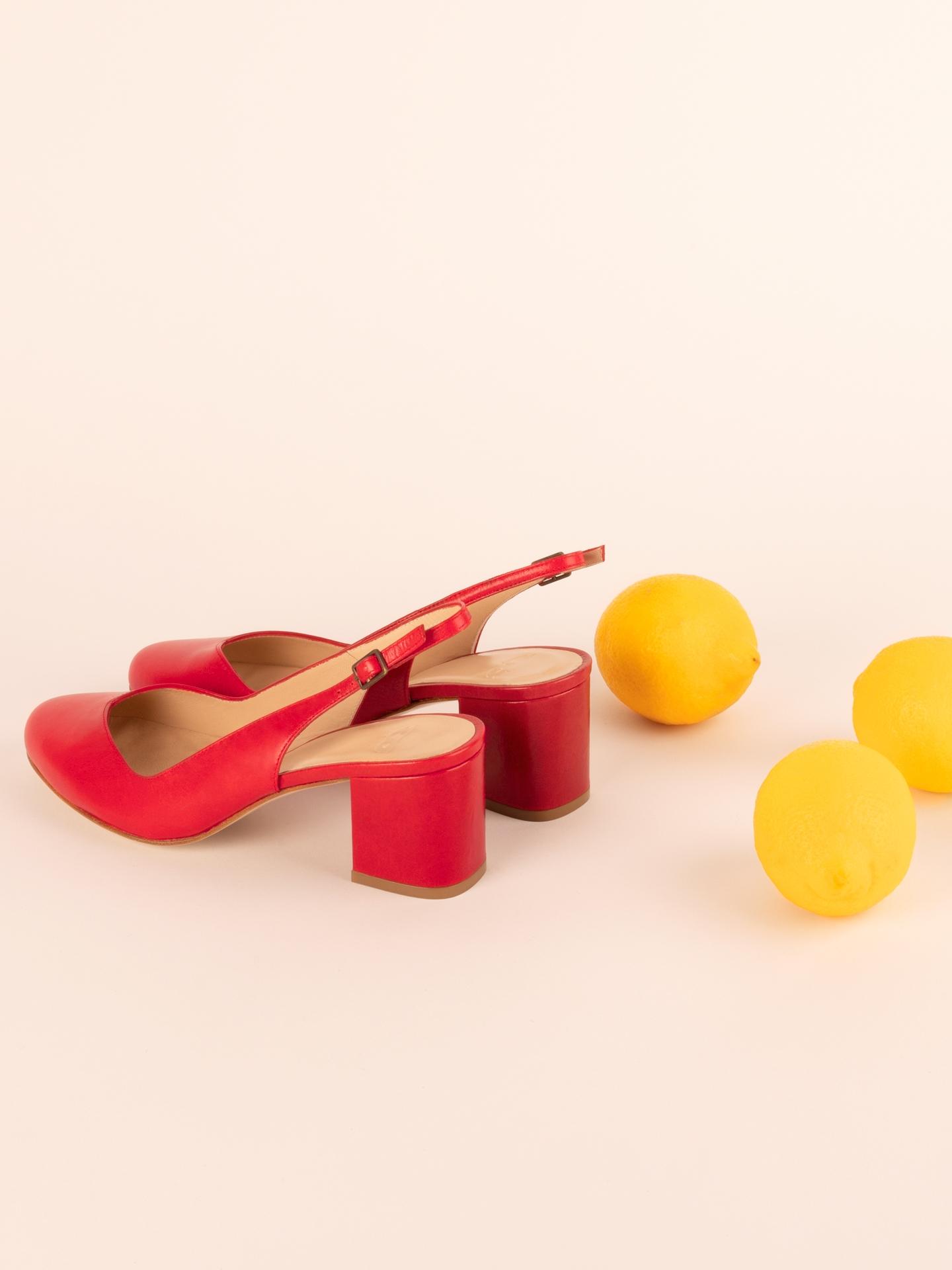 Ballerines Zolies rouge