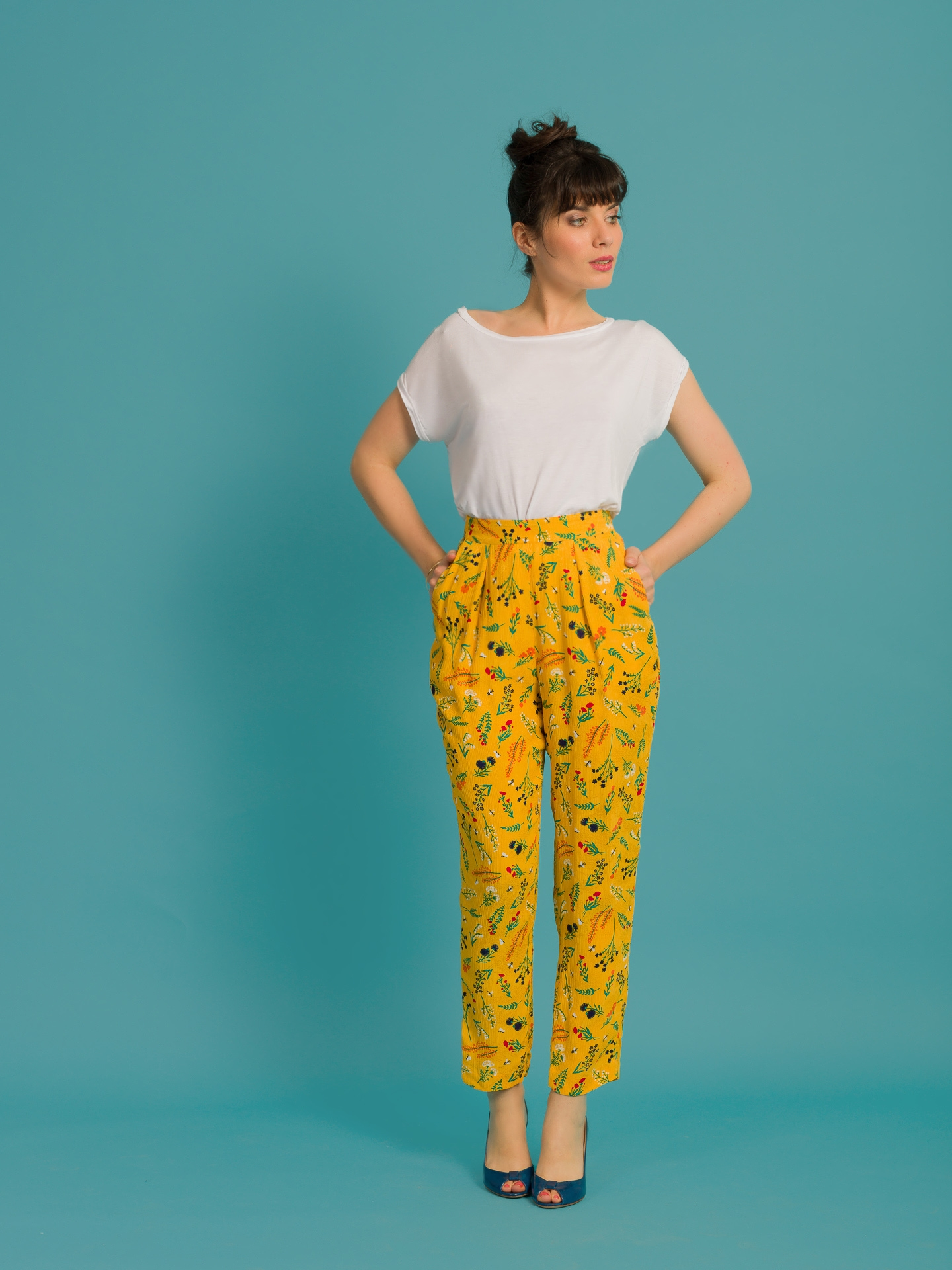 Pantalon Zootopy fleurs des champs