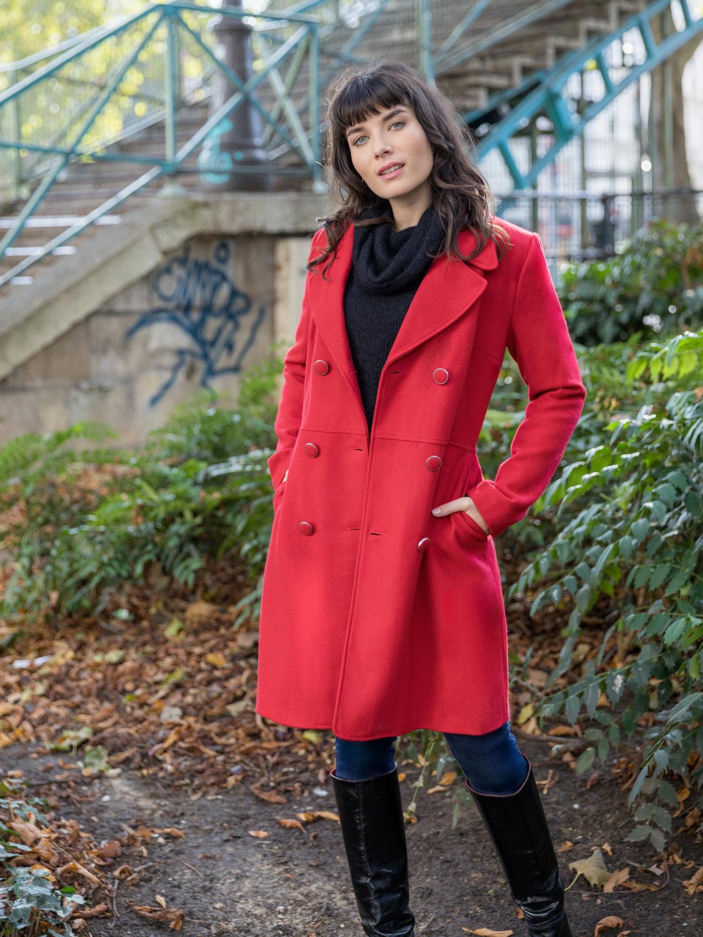Manteau Cerise Rouge