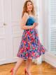 Jupe Diana Blue Hibiscus