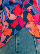 Top Demi Blue Hibiscus